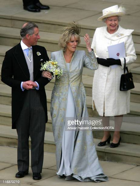 TRH The Prince of Wales and The Duchess of Cornwall with HM The Queen Elizabeth II