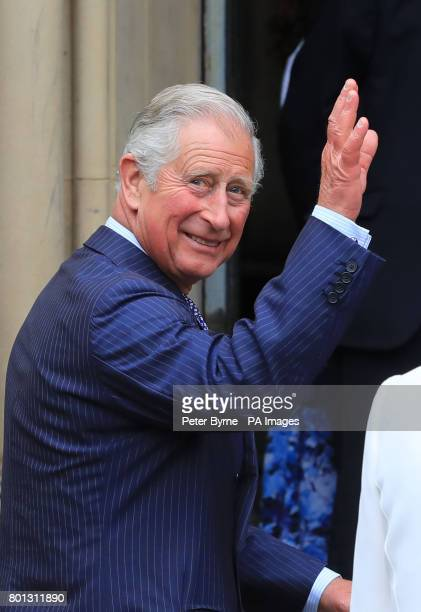 The Prince of Wales arrives at Manchester Town Hall for a meeting followed by a reception as part of a visit to Manchester