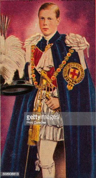 The Prince of Wales at his investiture as a Knight of the Garter 1911 Ardath cigarette card from a series of 50 commemorating the Silver Jubilee of...