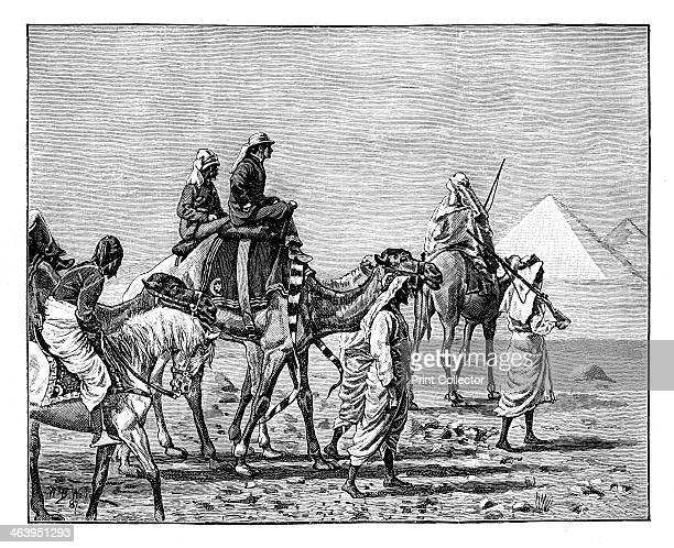 'The Prince of Wales at the Pyramids' c1861 The future King Edward VII on a visit to Egypt Illustration from The Life Times of Queen Victoria by...