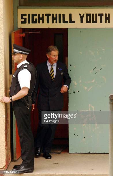 The Prince of Wales at the Sighthill Youth Centre in Glasgow during a tour of Scotland During the visit to the housing estate one of the most...