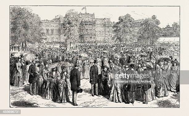 HRH The Prince Of Wales Attending Her Majesty At The Royal Jubilee Garden Party Held In The Grounds Of Buckingham Palace 1887