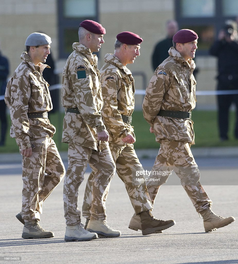 Charles And Camilla Present Medals To The Parachute Regiment - Essex : News Photo