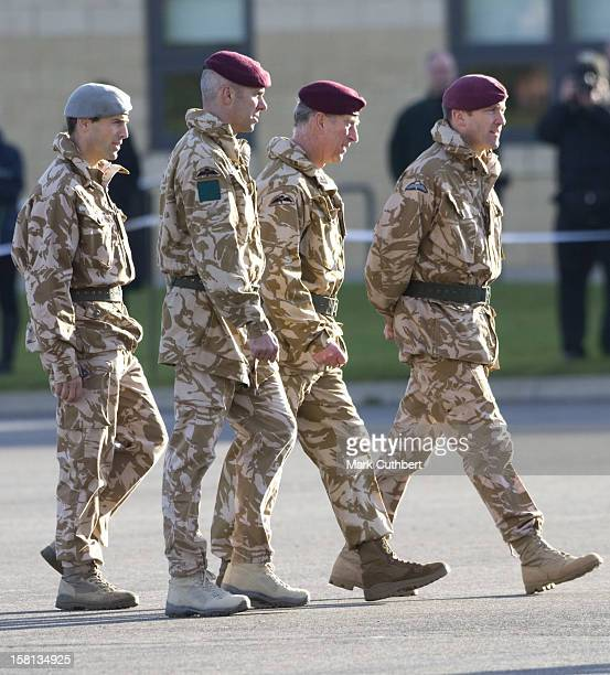 The Prince Of Wales Colonel In Chief The Parachute Regiment And The Duchess Of Cornwall Present Medals For Operational Service In Afghanistan To The...