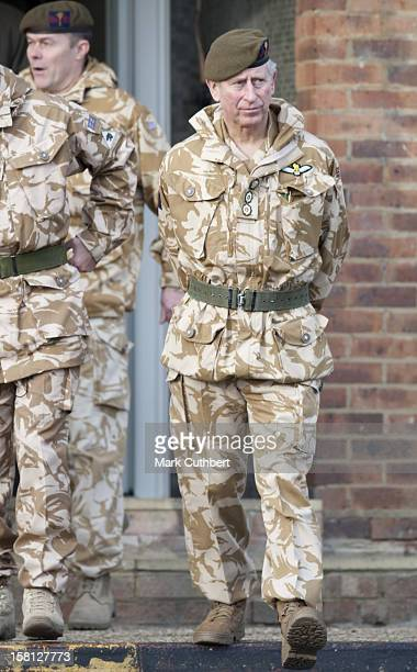 The Prince Of Wales Colonel Of The Welsh Guards And The Duchess Of Cornwall Present Campaign Medals To The 1St Battalion Welsh Guards At Lille...