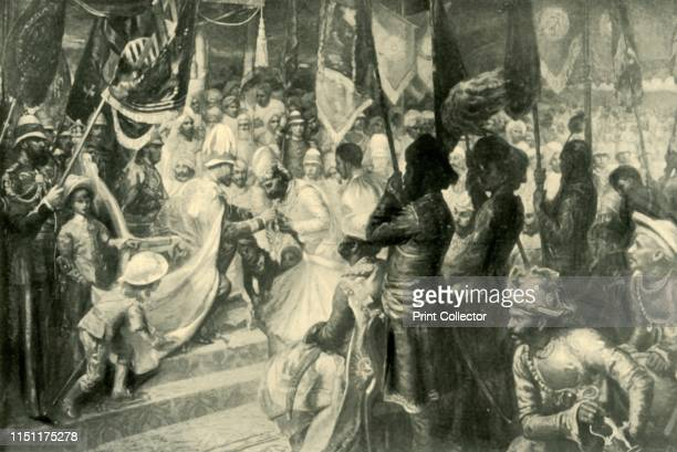 The Prince of Wales Conferring the Order of the Star of India at Calcutta' Albert Edward made a tour of the Indian subcontinent in 1875 Here he is...