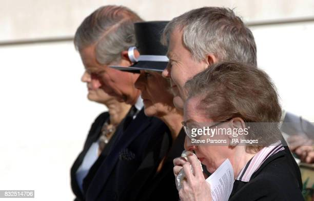 The Prince of Wales Duchess of Cornwall and Foreign Secretary Margaret Beckett during the unveiling of a memorial to those who died in the Bali...