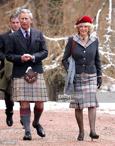 The Prince Of Wales Duchess Of Cornwall Attend A Service At Crathie Church On Their First Wedding Anniversary