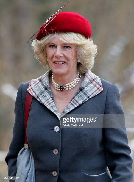 The Prince Of Wales & Duchess Of Cornwall Attend A Service At Crathie Church On Their First Wedding Anniversary. .