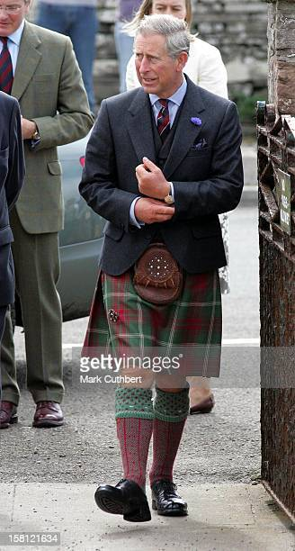 The Prince Of Wales Duchess Of Cornwall Unveil A Memorial Of The Queen Mother After Attending A Service At Canisbay Church Scotland