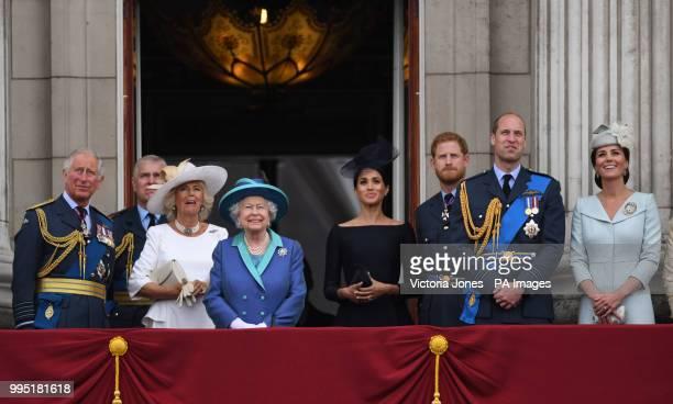 The Prince of Wales Duke of York Duchess of Cornwall Queen Elizabeth II Duchess of Sussex Duke of Sussex Duke of Cambridge and Duchess of Cambridge...