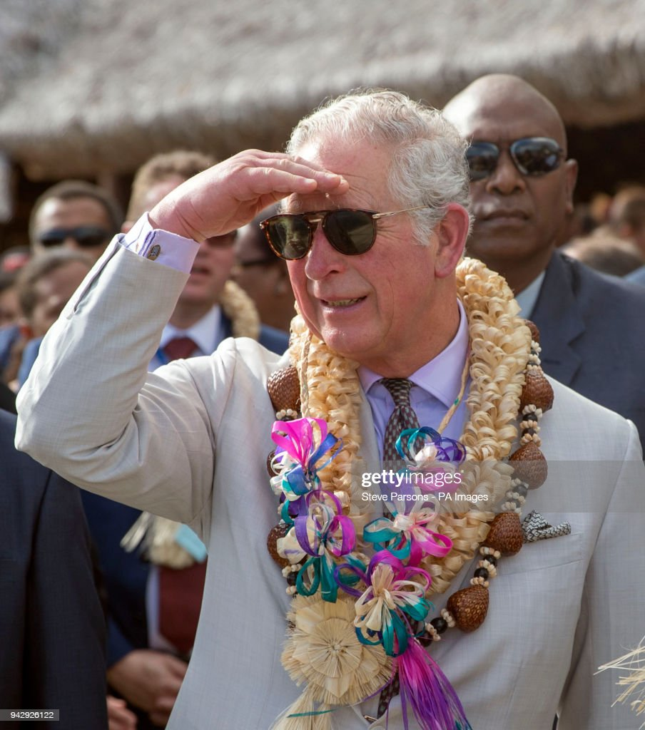 The Prince of Wales during a visit to Haos blong Handikraf, as he visits the South Pacific island of Vanuatu, during his tour of the region.