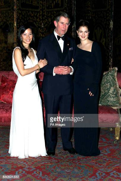 The Prince of Wales, flanked by two Charlie's Angels, hosted a dinner for actresses Lucy Liu and Drew Barrymore at St James' Palace in aid of the...