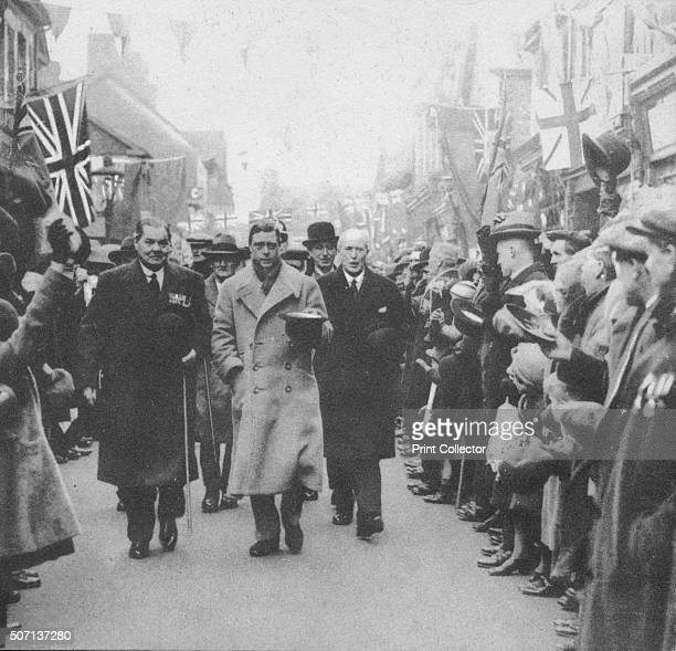 The Prince of Wales greeted by the people of Porth Glamorgan during his visit to Wales 1932 From Edward The Eighth Our King by AV Groom [Allied...