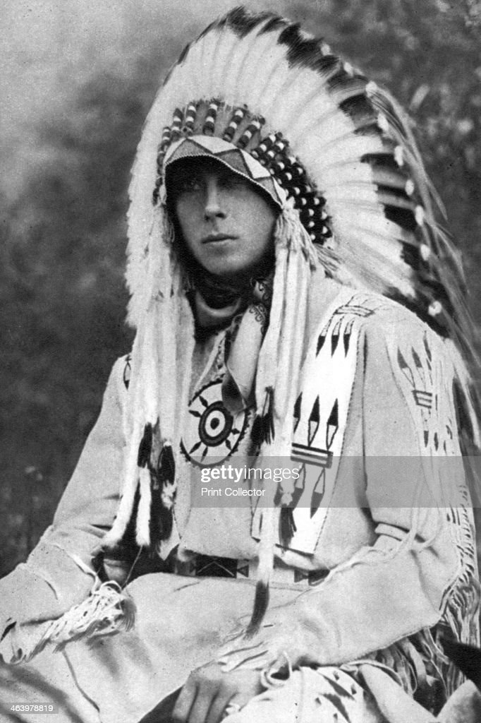 The Prince of Wales in Native American dress, Canada, c1930s. : News Photo