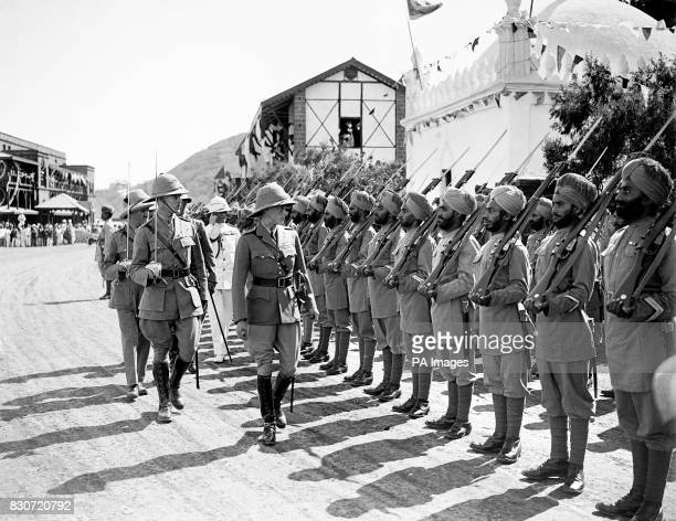 The Prince of Wales inspecting the Guard of Honour drawn from the 2nd Battalion 19th Punjab Regiment The Prince visited the Protectorate during his...