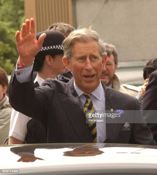 The Prince of Wales is greeted by wellwishers as he arrives at the Sighthill Youth Centre in Glasgow during a tour of Scotland * During the visit to...