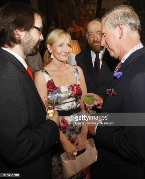 The Prince of Wales known as the Duke of Rothesay in Scotland meets Harry Potter author J K Rowling her husband Dr Neil Murray and founder of the The...
