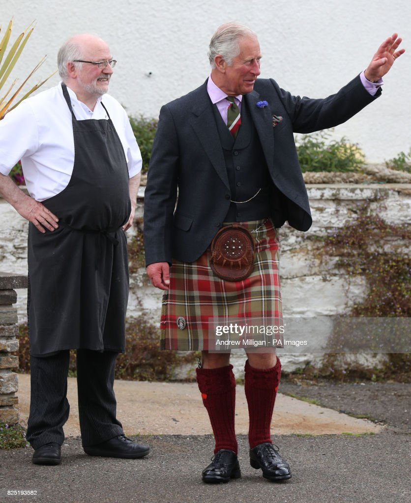 Prince of Wales visits Caithness : News Photo