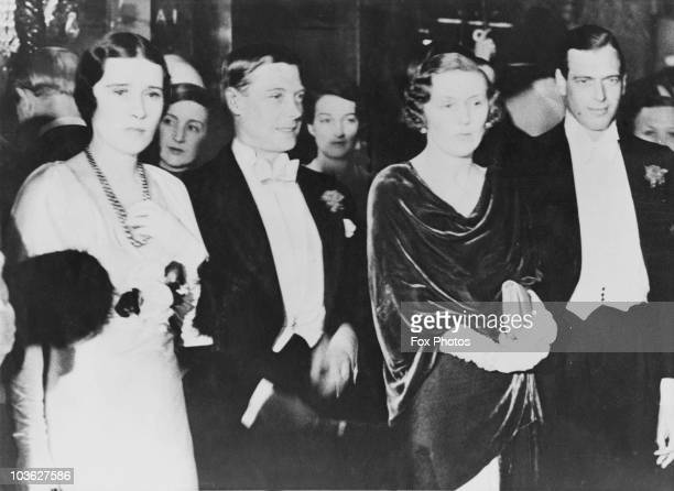 The Prince of Wales, later King Edward VIII and his younger brother Prince George, Duke of Kent attend a midnight performance of the film 'Lily...
