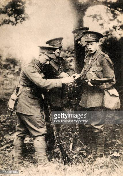 The Prince of Wales later King Edward VIII with his Grenadiers' regiment during World War One circa 1916