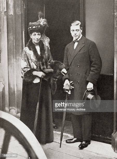 The Prince Of Wales Later King Edward Viii With Queen Alexandra At The Christening Of Lady Patricia Ramsay's Son Edward Viii Edward Albert Christian...