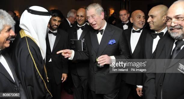 The Prince of Wales meets Bahraini Ambassador Shaikh Khalifa Bin Ali AlKhalifa at the Islamic Relief 25th anniversary Gala Dinner in the Grosvenor...