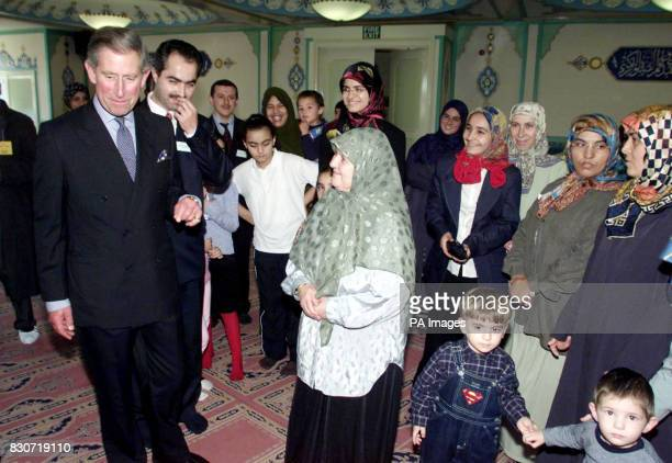 The Prince of Wales meets worshippers during a visit to the Suleymaniye mosque in east London The Prince asked to visit the London mosque which is...