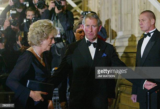 """The Prince of Wales , President of the Prince's Trust arrives at the """"Fashhion Rocks"""" concert and fashion show, 15 October 2003 in aid of The..."""