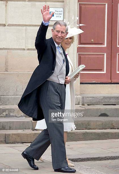 MAY 2005*** The Prince of Wales Prince Charles and the Duchess of Cornwall Camilla ParkerBowles on their wedding day at their civil ceremony marriage...