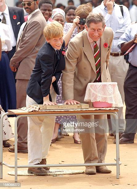 The Prince Of Wales & Prince Harry Visit South Africa.Visit To A Zulu Village. .