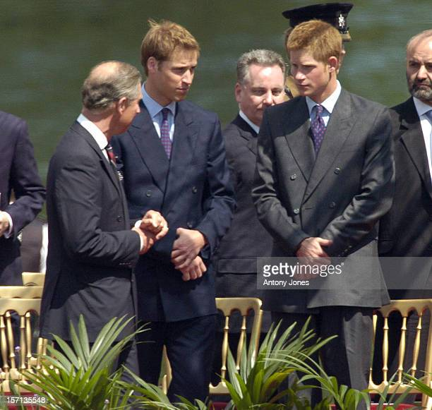 The Prince Of Wales Prince William Prince Harry Attend The Unveiling Of The Diana Princess Of Wales Memorial Fountain In London'S Hyde Park