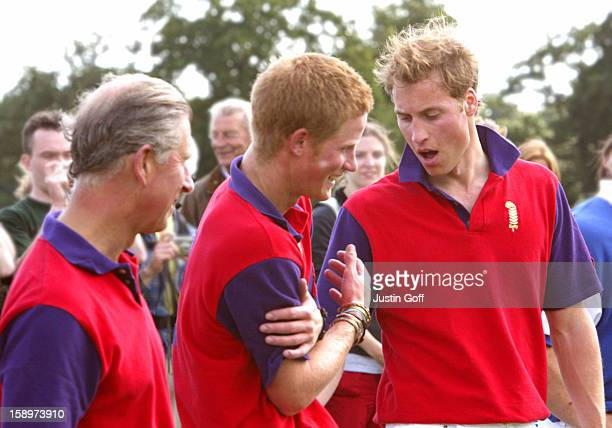 The Prince Of Wales Prince William Prince Harry Take Part In The Ghurka Wellfair Challenge Trophy At The Cirencester Park Polo Club