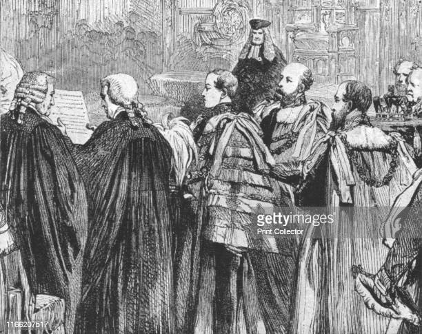 The Prince of Wales taking his seat for the first time in the House of Lords as a Peer of the Realm February 5 1863' Prince Albert Edward the future...