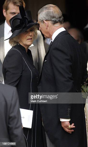 The Prince Of Wales The Duchess Of Cornwall Attend A Memorial Service For Major Bruce Shand At St Paul'S Church In London'S Knightsbridge