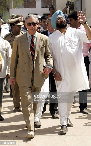 The Prince Of Wales The Duchess Of Cornwall Visit IndiaMeeting Farmers And Villagers During A Visit To Bhattmajra Village