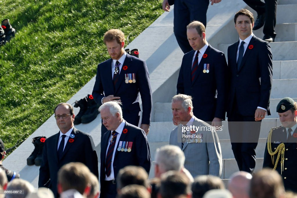 Commemoration of the 100th Anniversary of Vimy Battle - Official Ceremony : News Photo