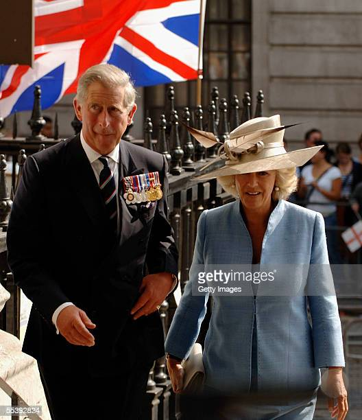 HRH the Prince of Wales the President of The Victoria Cross and George Cross Association and The Duchess of Cornwall attend a service of remembrance...