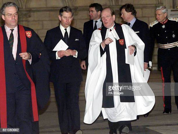 The Prince of Wales with Archbishop of York David Hope at York Minster at the Memorial Service for victims of the Selby Rail Crash Two thousand...