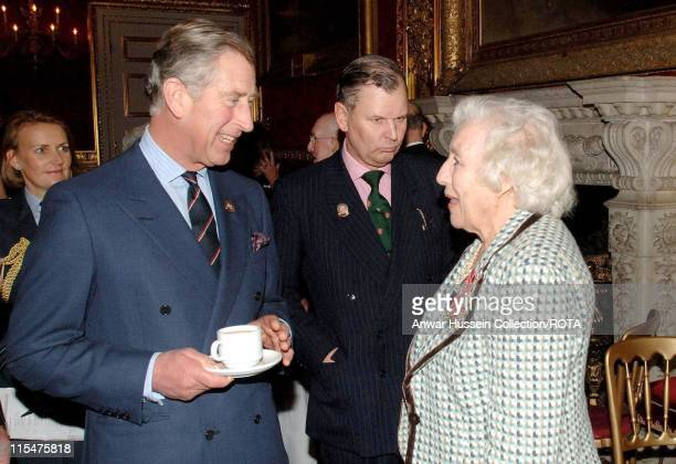 HRH The Prince of Wales with Dame Vera Lynn at a reception for the 'Not Forgotten Association' at St James's Palace central London December 7 2006...
