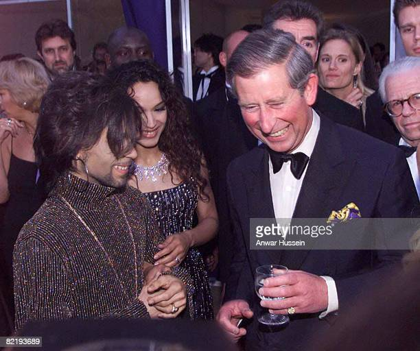 The Prince of Wales with Prince at the Versace/De Beers charity event at Syon House London on June 9th 1999