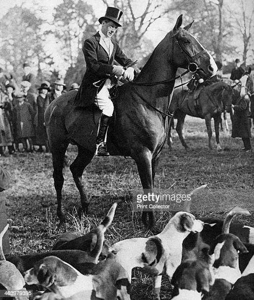The Prince of Wales with the Beaufort Hunt 1923 The future King Edward VIII during a fox hunt Illustration from George V and Edward VIII A Royal...