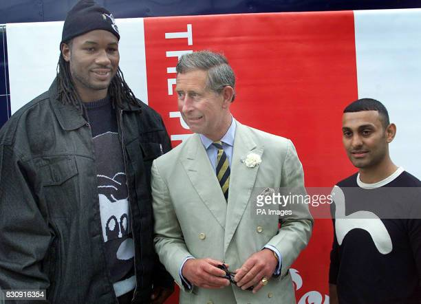 The Prince of Wales with World Heavyweight boxing champion Lennox Lewis and Sheffield's featherweight boxer Prince Naseem Hamed during the Capital...