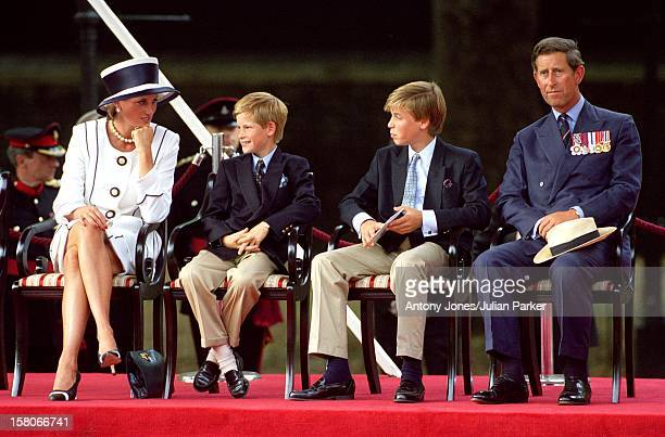 The Prince Princess Of Wales And Princes William Harry Attend The Vj Day 50Th Anniversary Celebrations In London