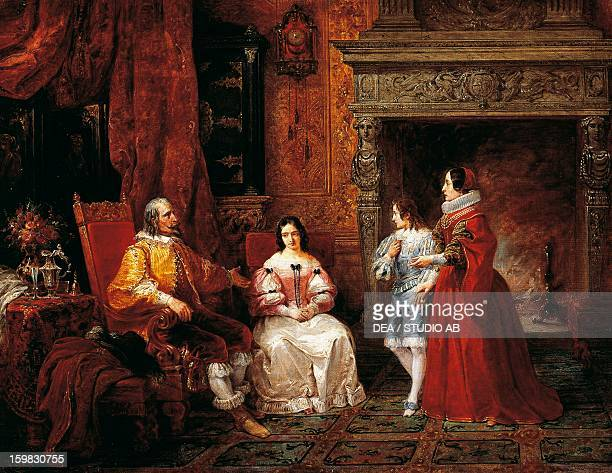 The prince tells the young prince and his mother of Gertrude's decision to become a nun episode from The Betrothed by Alessandro Manzoni by Francesco...