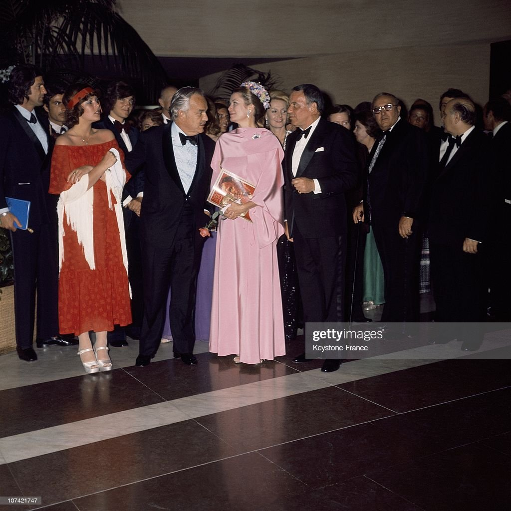 The Princely Couple Rainier And Grace At A Reception In France : News Photo