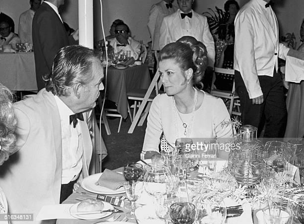 "The princes of Monaco Rainier and Grace at a party at ""Marbella Club"" Marbella, Malaga, Spain. ."