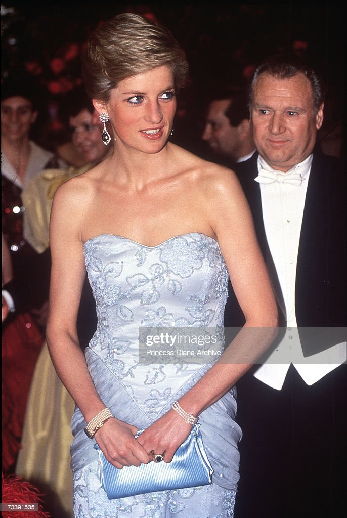 Diana In Blue : News Photo