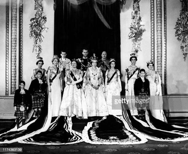 The Princess Alexandra of Kent the Prince Michael of Kent the Duchess of Kent the Princess Margaret the Duke of Gloucester the Queen Elizabeth II the...