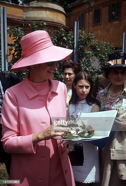 The Princess and American actress Grace Kelly visiting the Fifth Rose Show at the Villa Reale Niso Fumagalli Rose Garden Monza 1970